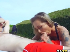 Chantelle fucks and sucks by dramatize expunge pool