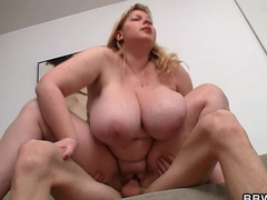 Busty obese ass plumper rides stranger'_s horseshit