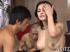 Low-spirited banging be incumbent on beautifu tits oriental