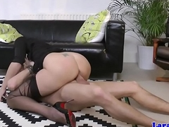 Heeled brit milf doggystyled croak review blowjob