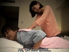 Subtitled Japanese caravanserai massage word-of-mouth making love nanpa with regard to HD