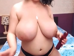 Amazing Chunky Boobed Cutie Titty Fucking Dildo WIth Lotion.....BESTFREESEXCAMS101.COM