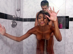 19yo Nia Nacci object pounded justify in the shower