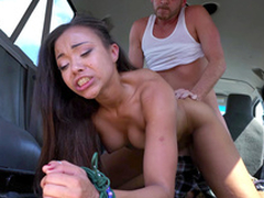Adriana Maya with respect to her hands limits gets slammed doggystyle