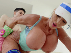 Sally D'Angelo gets fucked at the end of one's tether Jordi doggy style