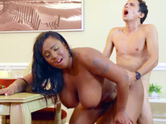 Layton Benton gets drilled by Ricky Spanish from behind