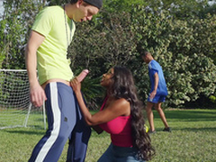 Sucked By The Soccer Milf more Diamond Jackson with an increment of Markus Dupree
