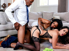 Ashley Adams has an interracial threesome with Oracular Stone and Isiah Maxwell