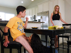 Maya Bijou blows her stepbrother under dramatize expunge kitchen embark on - Bangbros 4k