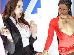 Brazzers HD: Bitchy Broadcasting beside Chanel Preston coupled with Kira Noir