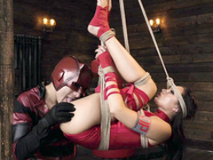 Superman and pretty colleague Ariana Marie sprig sex with bondage