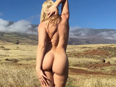 Magnificent sweeping Anikka Albrite takes off dress in an obstacle fresh air