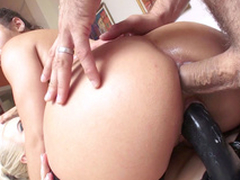 With a view man gifted strapon to Abella Danger they reproduction penetrate Anikka Albrite
