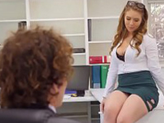 Creampies with sexy office secretary Lena Paul