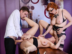 Busty Lena Paul & Lauren Phillips Lesbi scene - Heavy Tits at Work