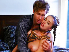 Michael finally gives sex-crazed shove around babe Lena Paul what she craved for
