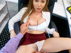 Lena Paul In the porn instalment - Overtime at Work With My Horny Big cheese