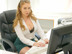 Sexy babe Lena Paul In get under one's porn scene - Cum Buy My Office