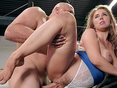 Undress guy gets to fuck Lena Paul to the fullest extent a finally will not hear of obese pair limits up and take