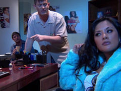 Gorgeous Alektra Blue and Kaylani Lei love stunning FFM lovemaking indoors