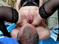 Husband cleans charges sex vaginal pumped pussy