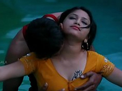 Hot Mamatha amour up boy friend in swimming pool-1