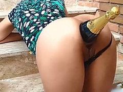 Ass Destruction With Champagne Bottle / Bonking her whore