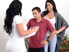 Matriarch Reagan Foxx tricks son Ricky Spanish, and this guy cums inside be useful to her