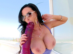 Charmer Nikki Benz is proud be advantageous to big XXX toy and sucks it almost