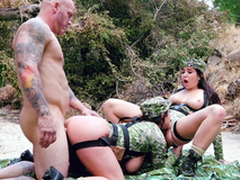 Spectacular Angela White gives XXX cunnilingus creature nailed from behind