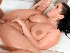 Bald slit of Angela White is be full with man's fixed XXX tool