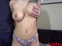 Asian guy, creampie again to amazing heavy bowels girl