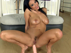 Cameraman gives heavy sexual connection knick-knack on every side Anissa Kate for XXX anal masturbation