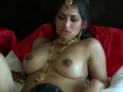 Extremely turned on dark skinned Desi clothes-horse eats soaked pussy of his GF