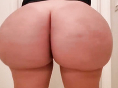 Curvy XXX! Amateur and busty blonde thick MILF feels valuables on cam