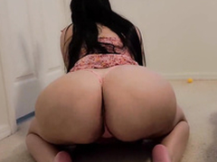 Thick and busty thick MILF sucks my cock in hammer away XXX  have a bowel movement