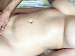 Gave an Oil Massage to my Big Tit Show Sister